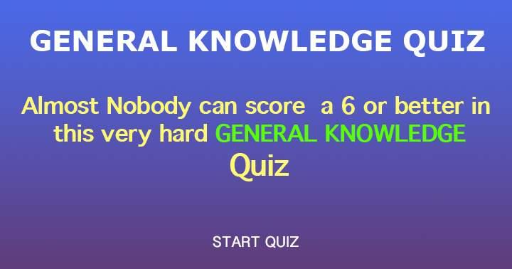 Mixed Knowledge Trivia Quiz