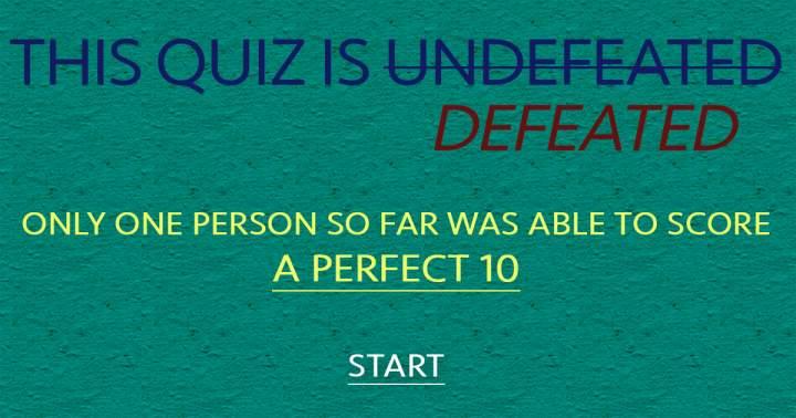 Undefeated Knowledge Quiz
